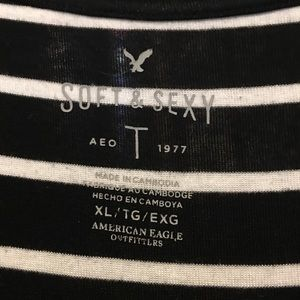 American Eagle Outfitters Tops - American Eagle Basic Stripped Shirt